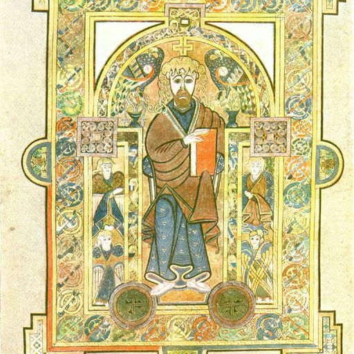Golden Portrait of Jesus