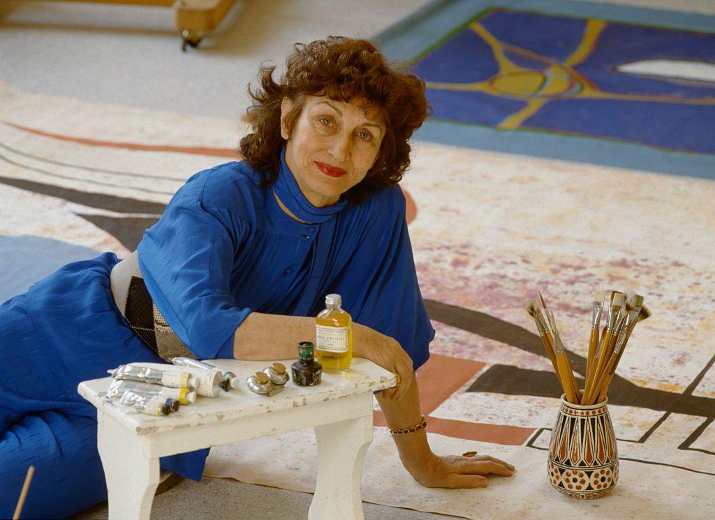 Portrait of Françoise Gilot in her studio