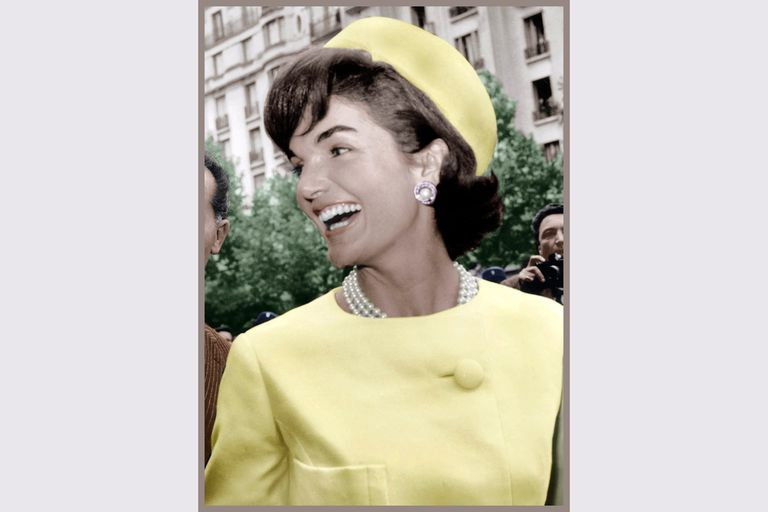 Jacqueline Kennedy during a 1961 visit to Paris