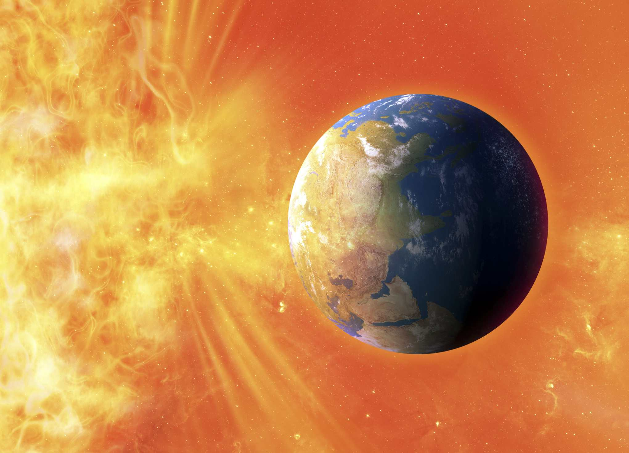 If a strong solar flare hit the Earth, the results could be devastating.