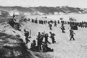 American troops land during Operation Torch, 1942.