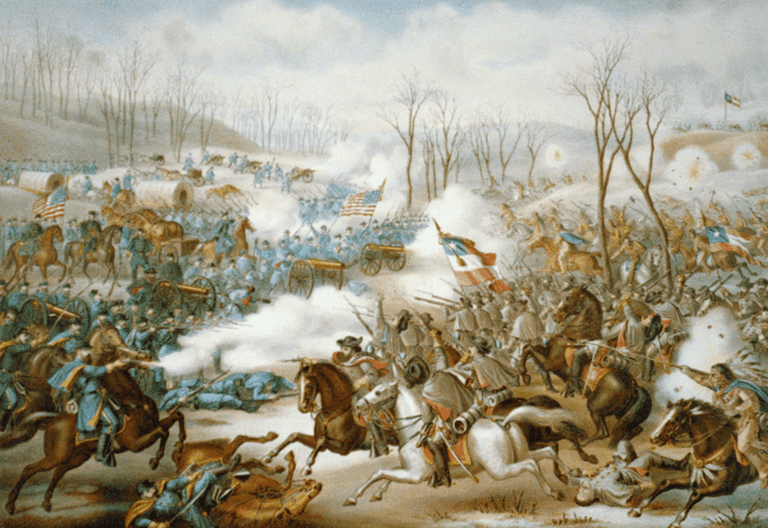 Fighting at Pea Ridge