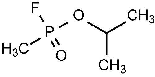 Ésta es la estructura química del sarín.
