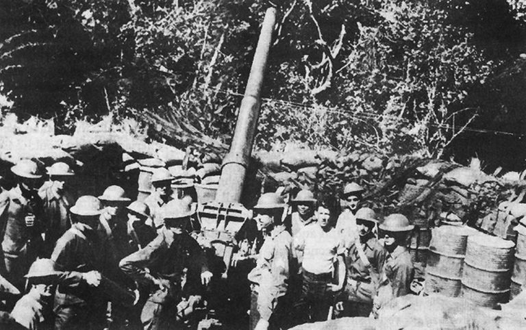 Allied troops on Corregidor