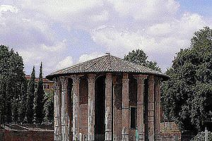 Temple of Hercules Victor in the Forum Boarium in Rome