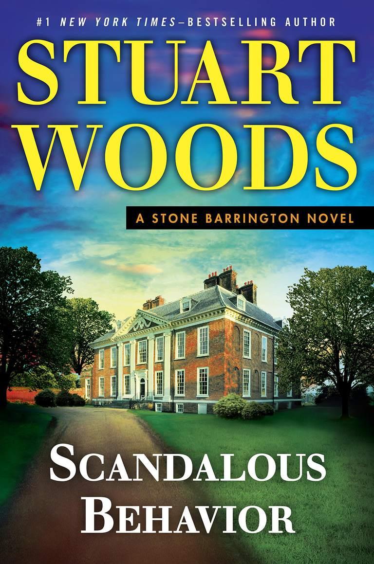 """""""Scandalous Behavior"""" by Stuart Woods cover art."""
