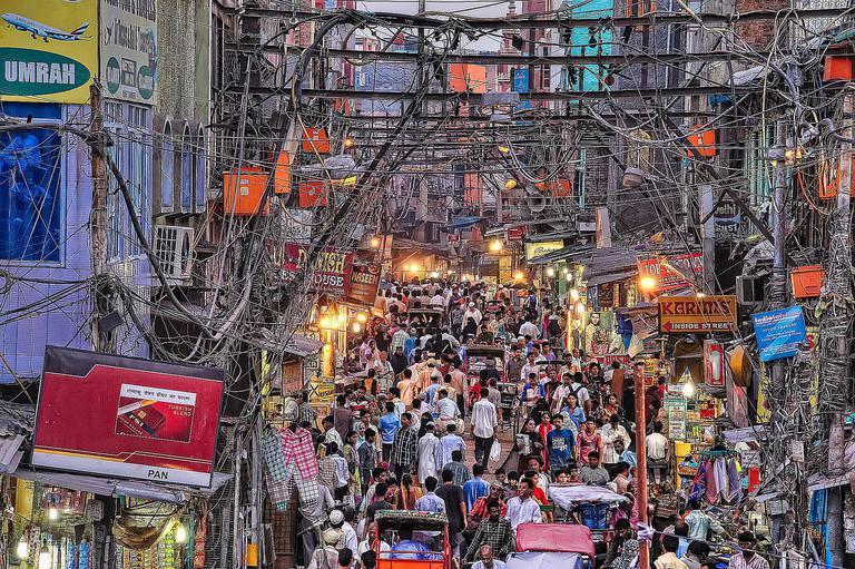 Crowded City Delhi