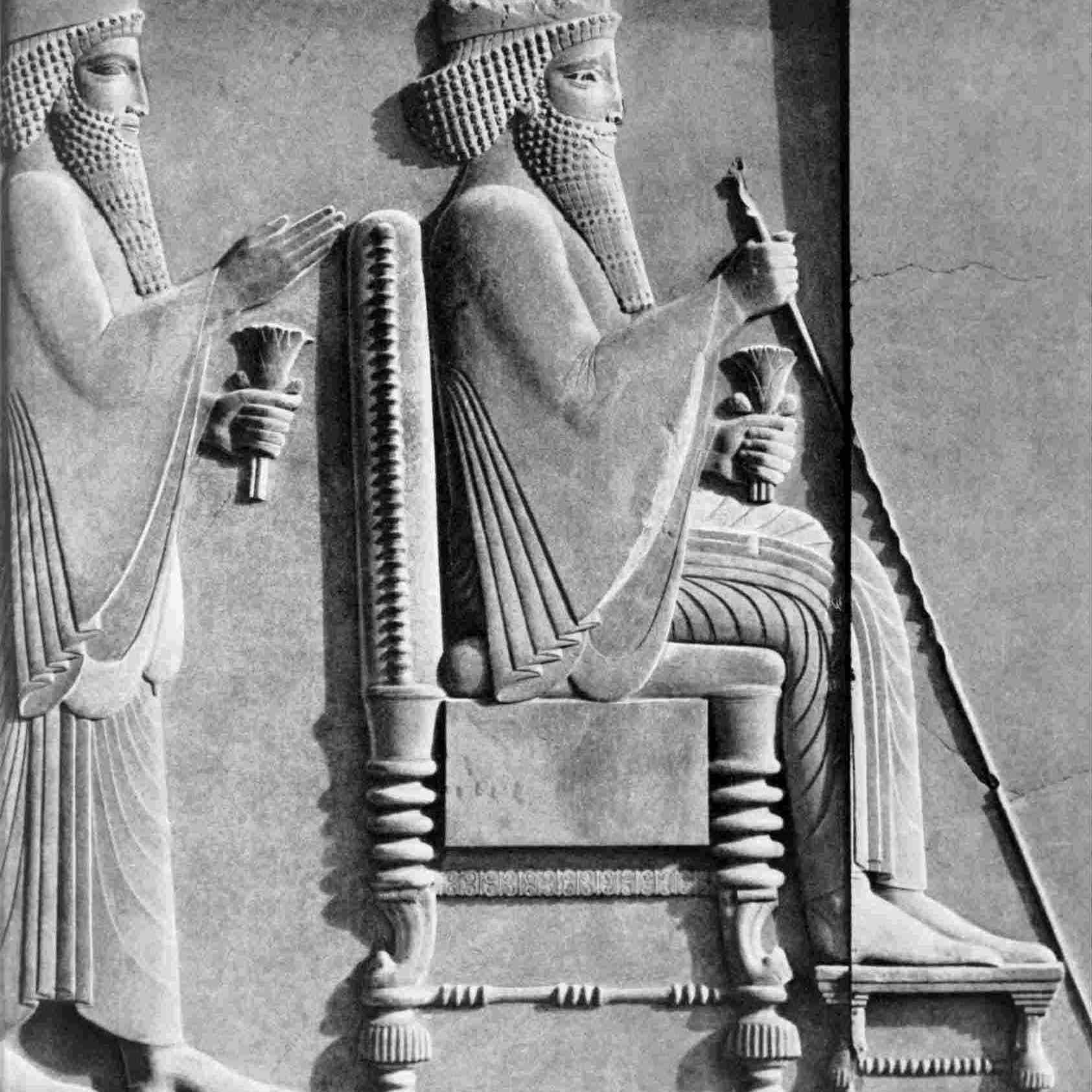 Darius I Receiving a Median Dignitary Relief Sculpture