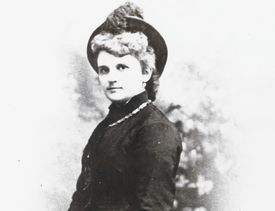 Photograph of Kate Chopin in a riding habit