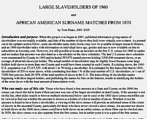Large Slaveholders of 1860