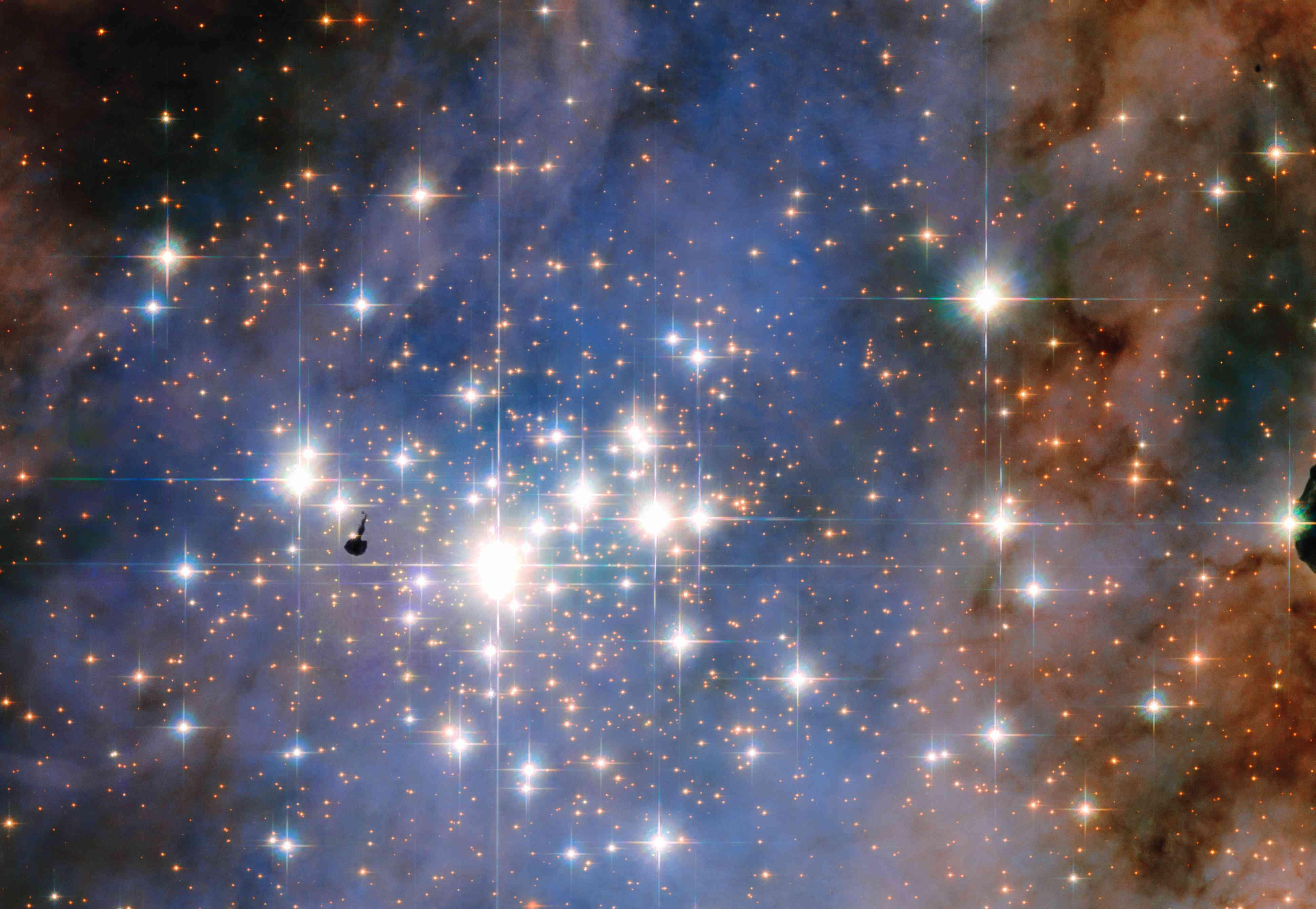 Trumpeter 14 in the Carina nebula.