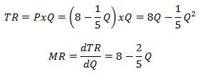 Marginal Revenue Is the Derivative of Total Revenue