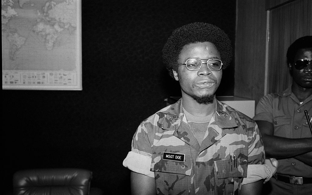 Samuel K. Doe became Head of State after leading the April 12, 1980 coup d'etat in Monrovia against William Tolbert.