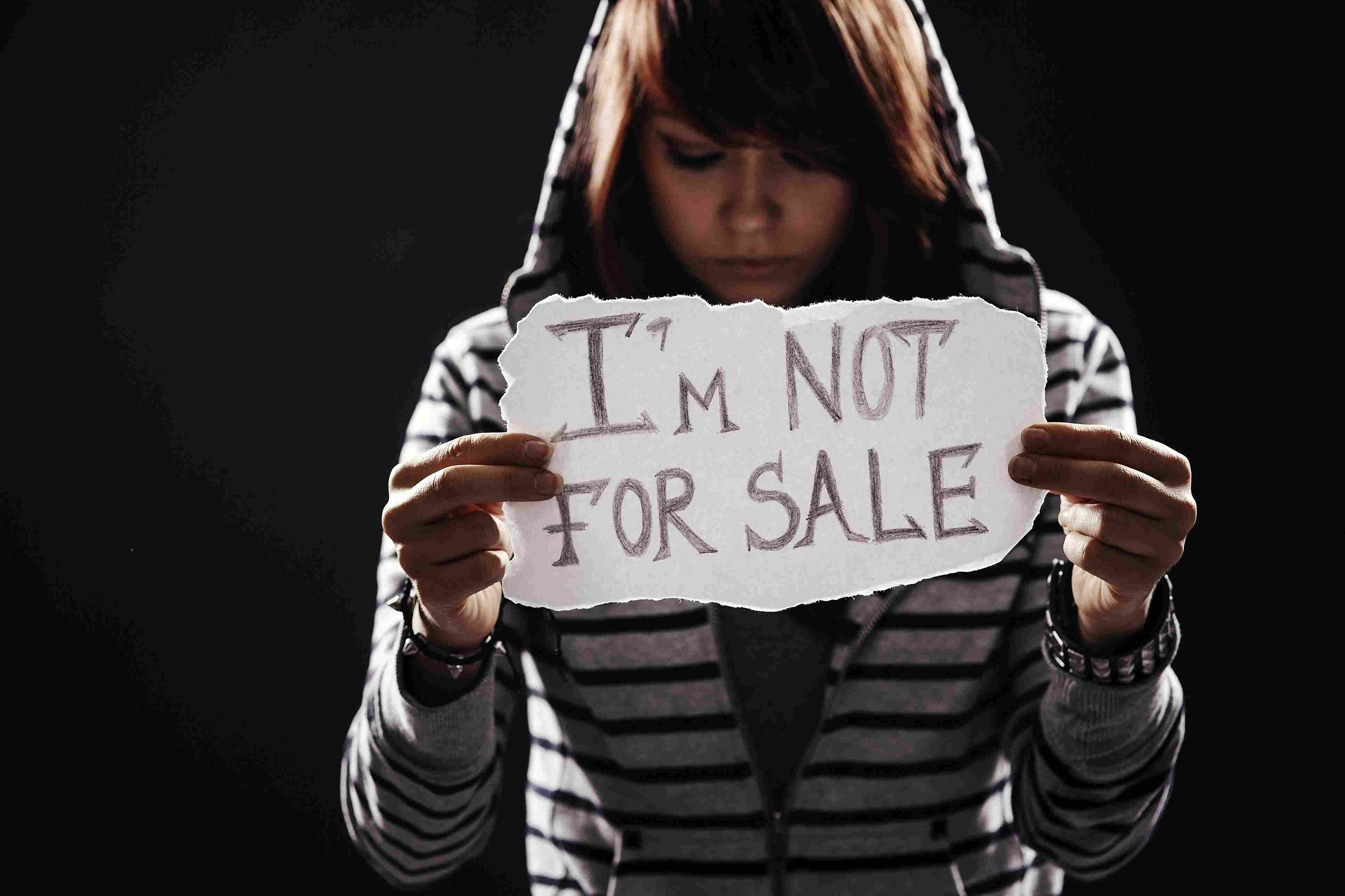 Víctima de tráfico de personas.