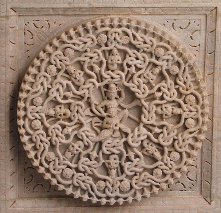 Jain Temple ceiling ornament, Ranakpur, Rajasthan, India