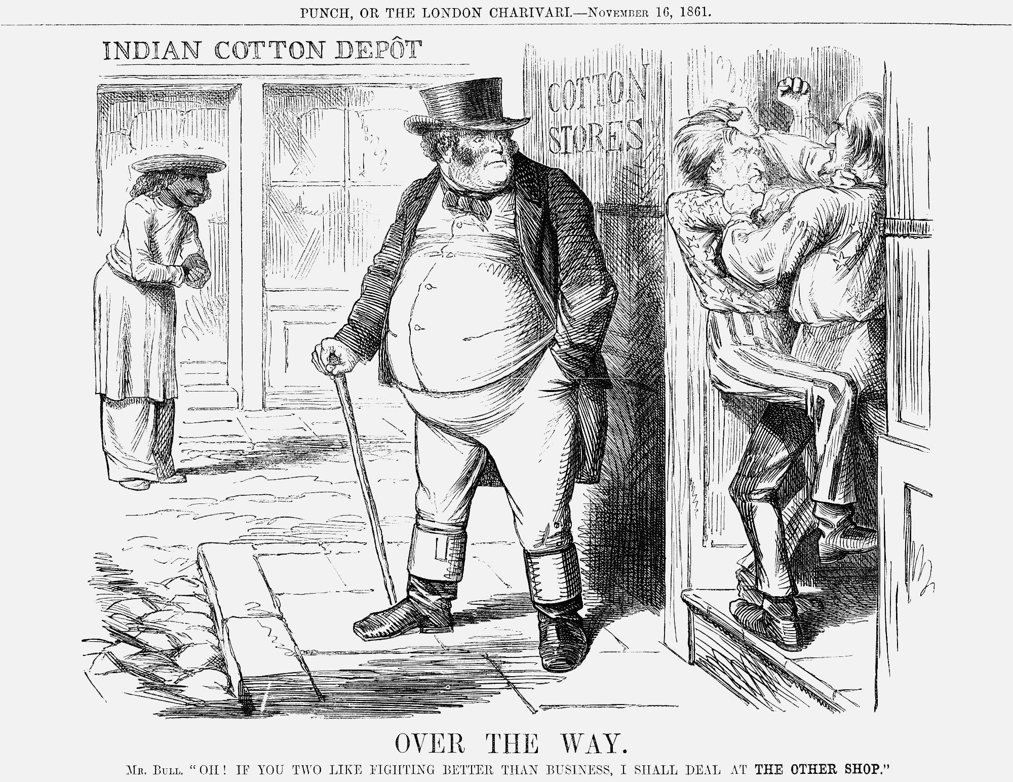 The Indian Mutiny Political Cartoon