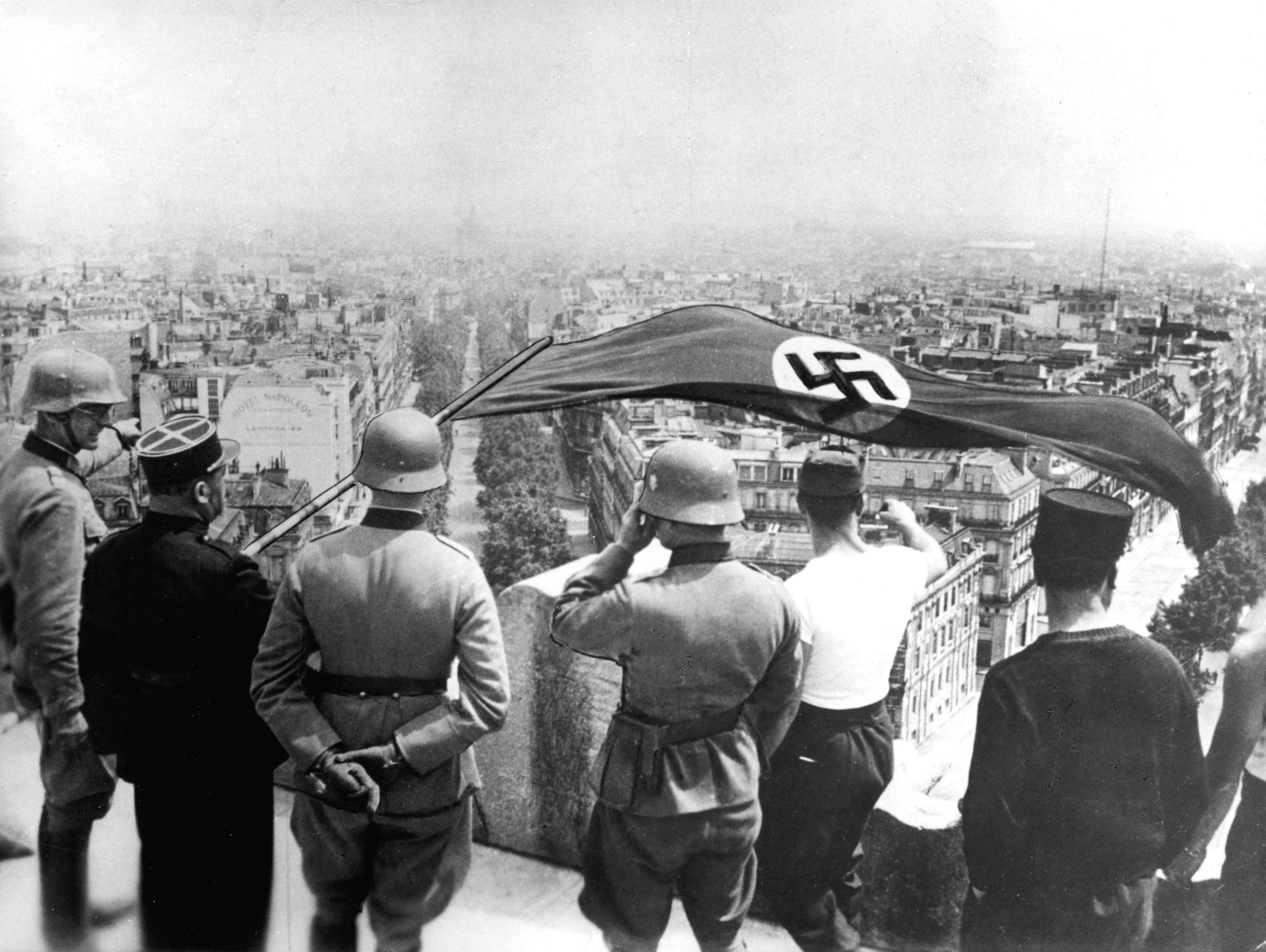 German occupation of Paris, World War II, June 1940. Artist: Anon