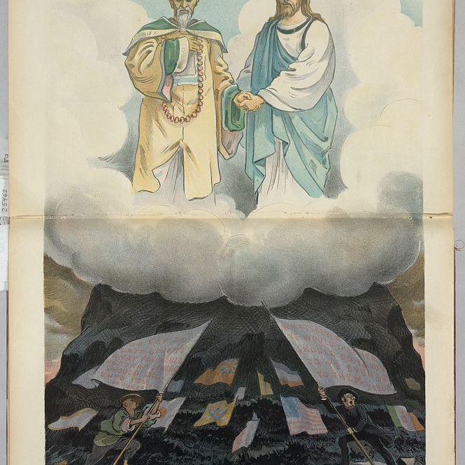 Jesus and Confucius commiserate over the Boxer Rebellion