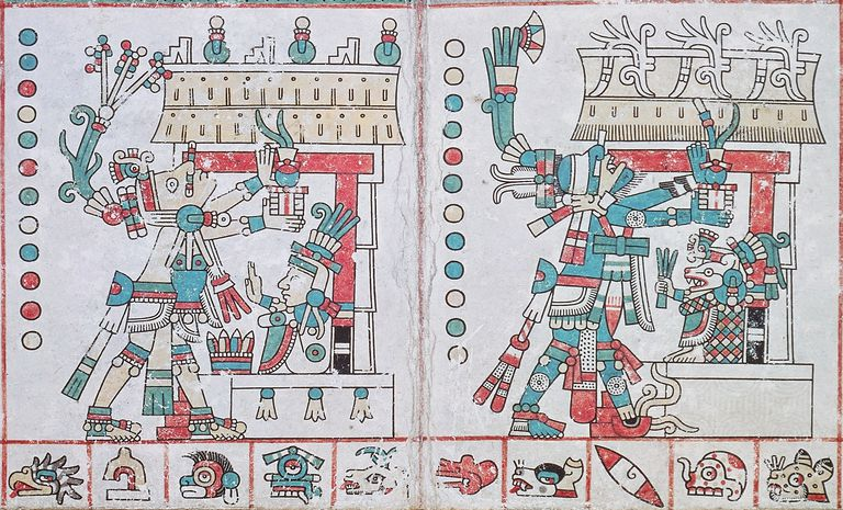 Page from Codex Tezcatlipoca, Illustrating Centeotl