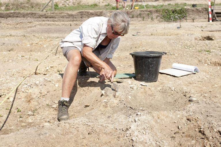 archaeologist on a dig