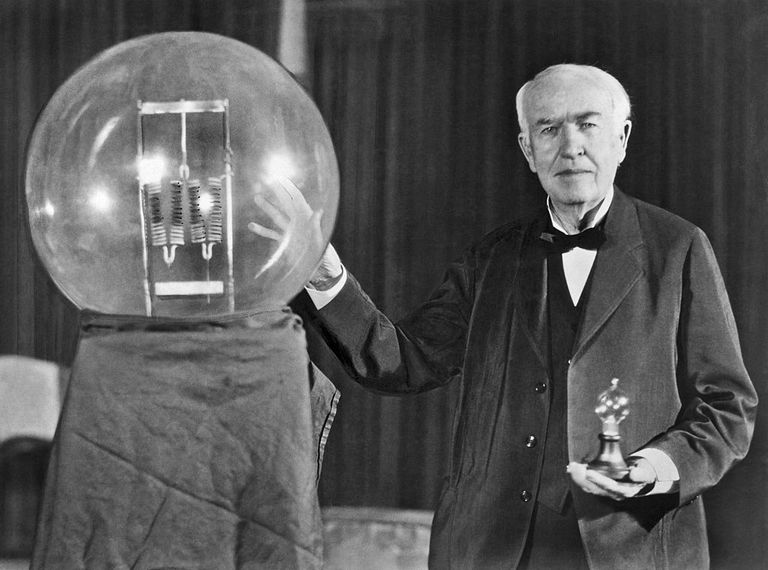 Thomas Edison at the lightbulb's golden jubilee anniversary banquet in his honor, Orange, New Jersey, October 16, 1929.