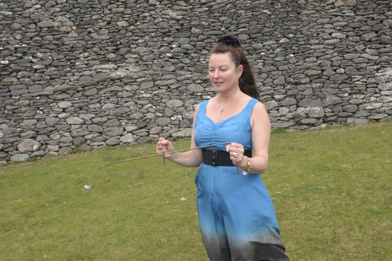 Girl Using Dowsing Rods