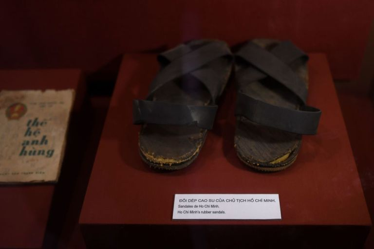 ancient shoes on display