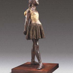 Edgar Degas (French, 1834-1917) Little Dancer Aged Fourteen, 1880-81, cast ca. 1922 Painted bronze with muslin and silk Object: 98.4 x 41.9 x 36.5 cm Private Collection