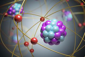 Elementary particles in an atom