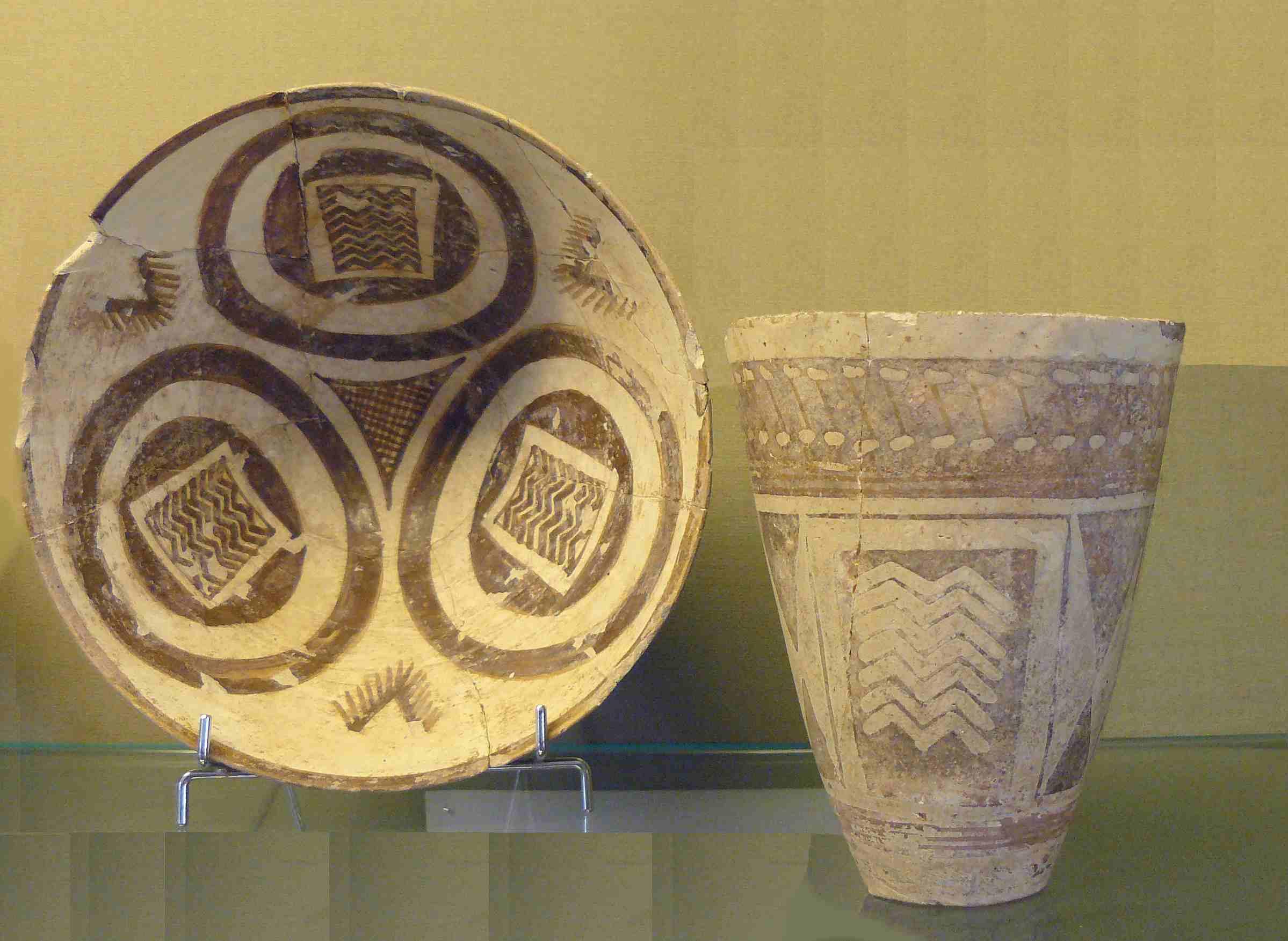 Ubaid Pottery from Susa, Musée National de Céramique, Sèvres