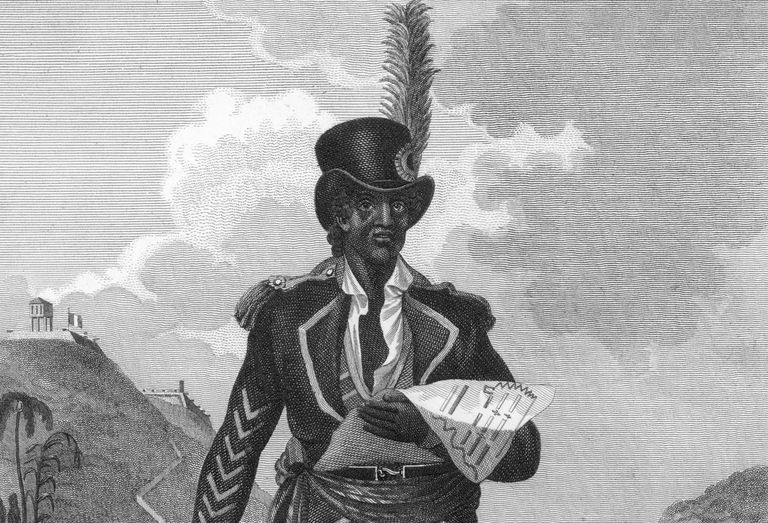 Toussaint L'Ouverture, leader of the slave rebellion in Haiti