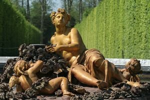 The goddess Flora resting on a flowerbed