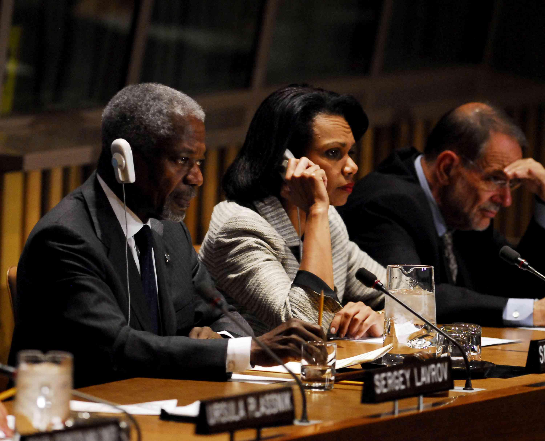 U.N. Secretary General Kofi Annan and the Quartet Principals from the European Union Press Conference