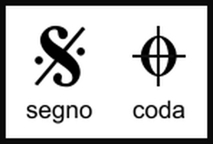 Image result for coda segno