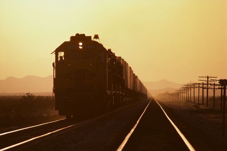 Train in the Mojave Desert