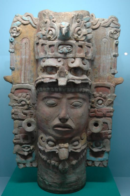 Maya Ceramic Sculpture, Museum at Tuxtla Gutiérrez, Mexico