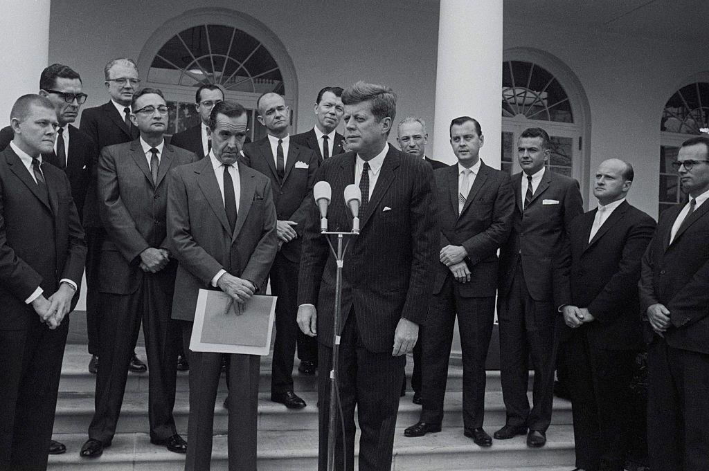 President Kennedy With Edward R. Murrow