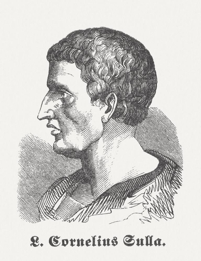 Illustration of Lucius Cornelius Sulla Felix.