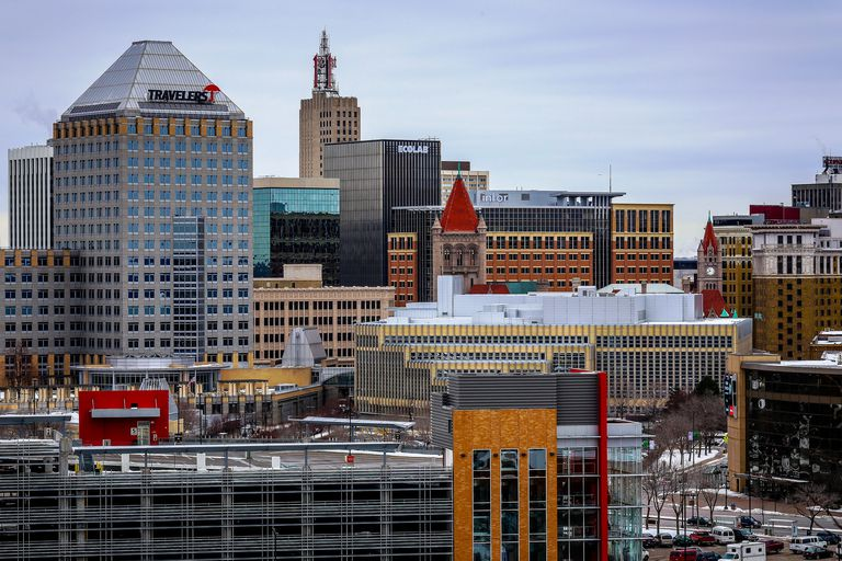 The St. Paul, Minnesota Skyline