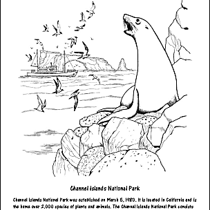 Channel Islands National Park Coloring Page