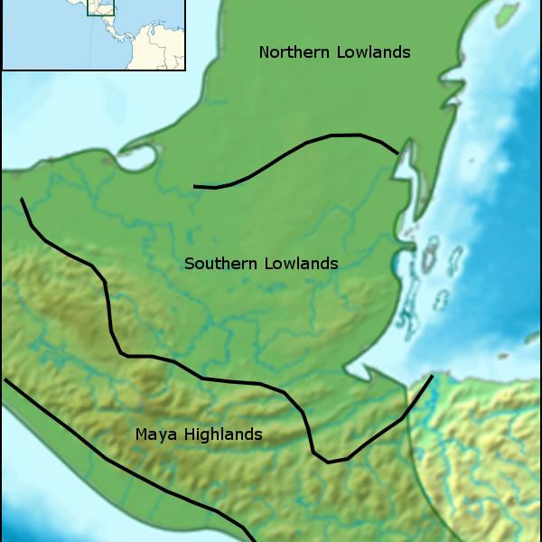 Map of the Maya Region
