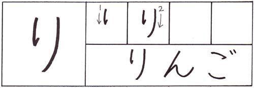 how to write the hiragana ri character