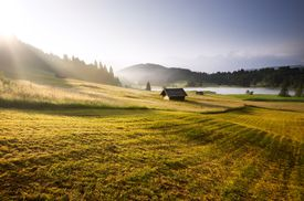 Sunrise over the Bavarian Alps