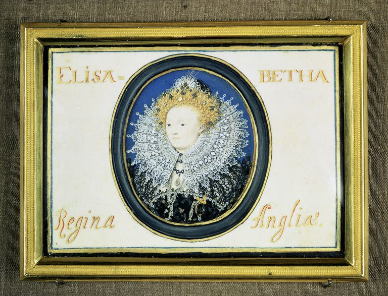 Miniature of Elizabeth I (1533-1603) Queen of England and Ireland (1558-1603) Artist: Nicholas Hilliard