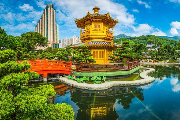 A pagoda in Hong Kong