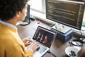 programmer at computer
