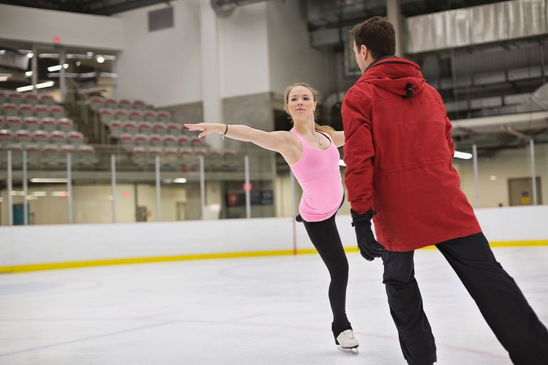 Essays About High School Female Figure Skater With Coach Practicing Routine In Skating Rink Apa Format For Essay Paper also Cause And Effect Essay Papers How To Become A Figure Skating Coach Essays Term Papers