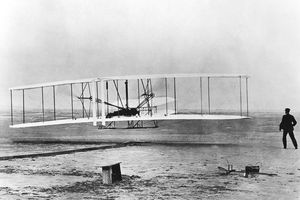 The very first motorized, control flight.