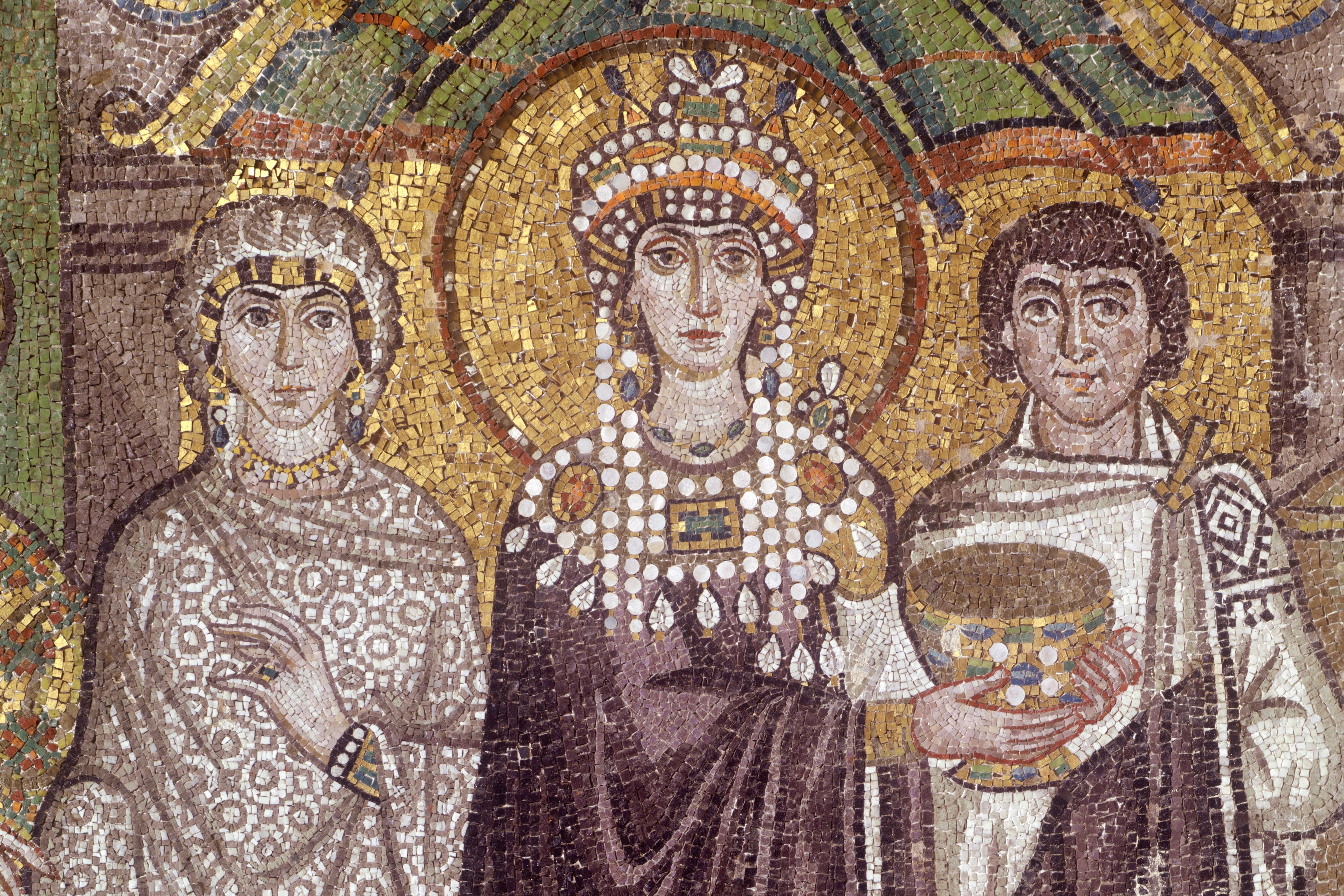 Theodora, in a mosaic at the Basilica of San Vitale