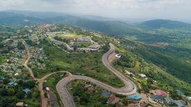 High-angle view of Peduase, Ghana